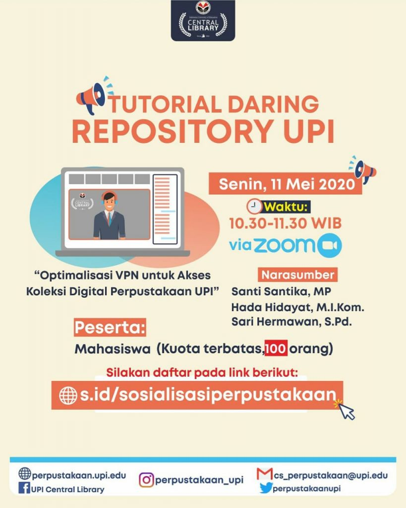 Perpustakaan UPI Gelar Tutorial Repository dan Optimalisasi VPN